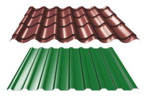 Профнастил или металлочерепица, что лучше выбрать для крыши